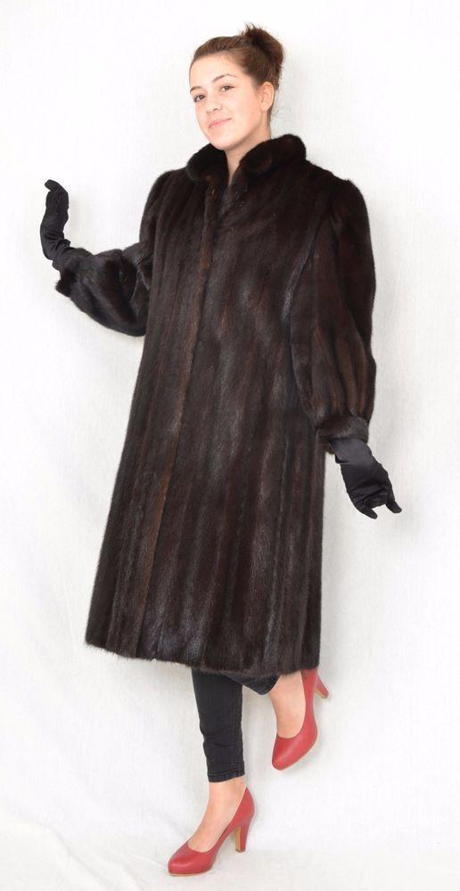 US620 Mink Fur Coat Jacket abrigo de vison шуба Mex норка Nerzmantel Nerz ~ XL #Handmade #BasicCoat