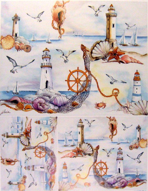 Морской стиль декупажа картинки