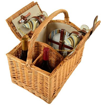 Picnic At Ascot Vineyard 2 Person Picnic Basket & Reviews | Wayfair