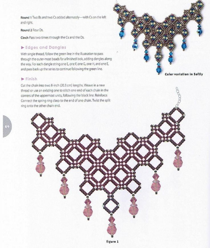 1281 best BEADING NECKLACES AND PENDANTS TUTORIALS images on ...