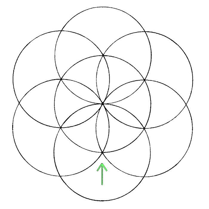***This lesson is an taken from the pages on the sacred geometry how-to book 'Construction', available now from the Chemical Marriage store… BUY THE FULL BOOK HERE. The Flower of …