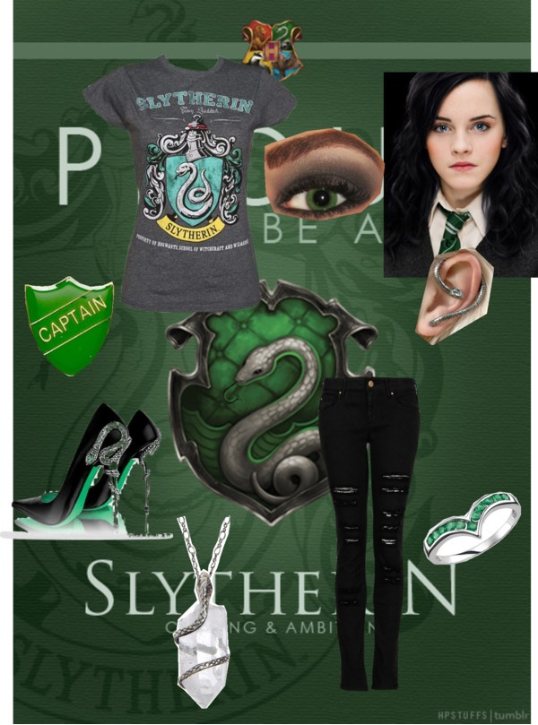 """""""SLYTHERIN !!!!!!!"""" by maraudernerdforever ❤ liked on Polyvore"""