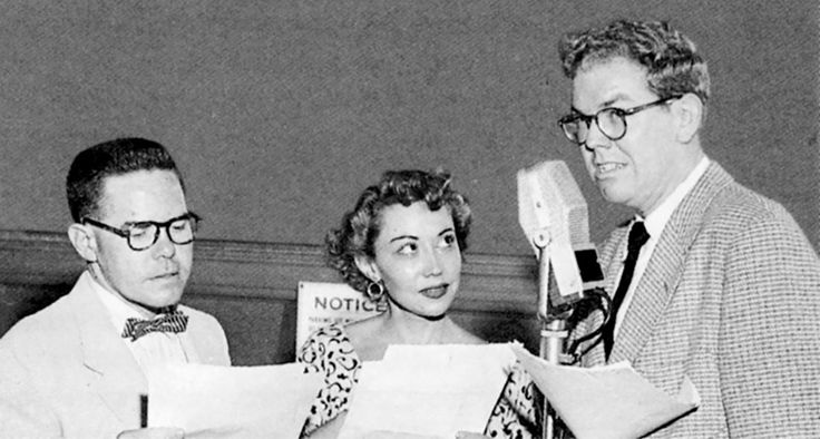 Happy 98th Birthday, June Foray: June Foray with Daws Butler (left) and Stan Freberg.