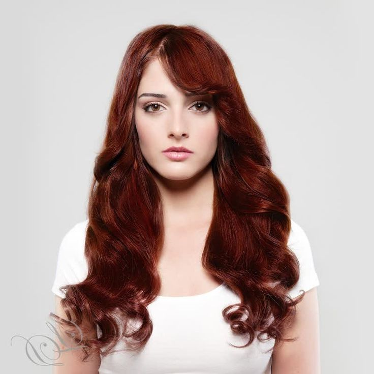 Mahogany Red Hair Color 2015 2016 - I think this is close to my hair with Henna. Not my favourite.