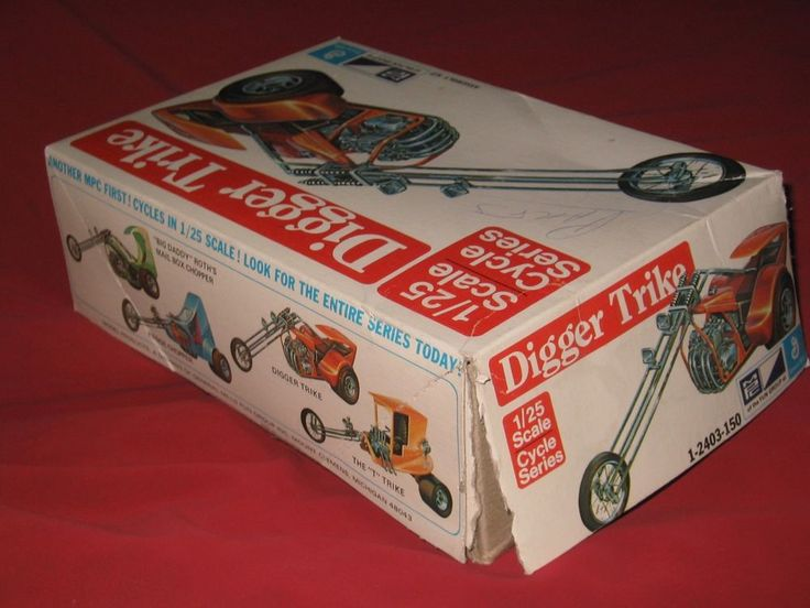 MPC 2400 Plastic Model JUNKYARD 1/25 Scale Digger Trike & Mail Box Chopper Parts #MPC