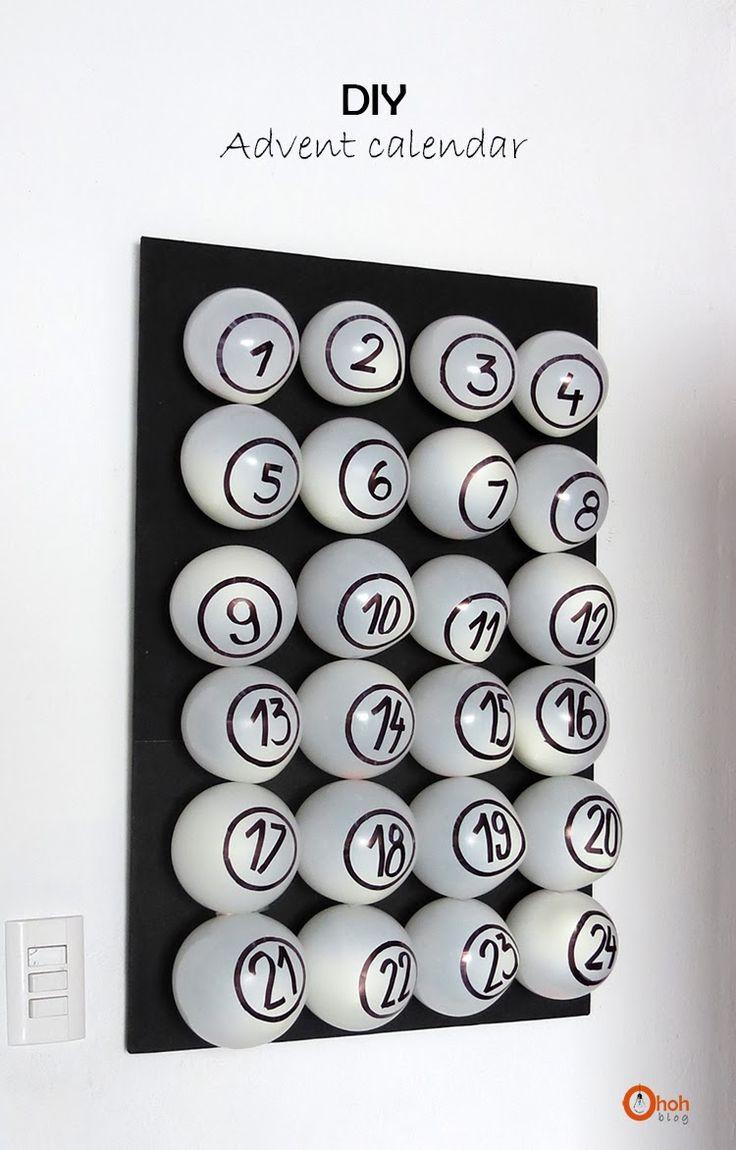 Diy Calendar Numbers : Diy advent calendar kalender adventskalender und