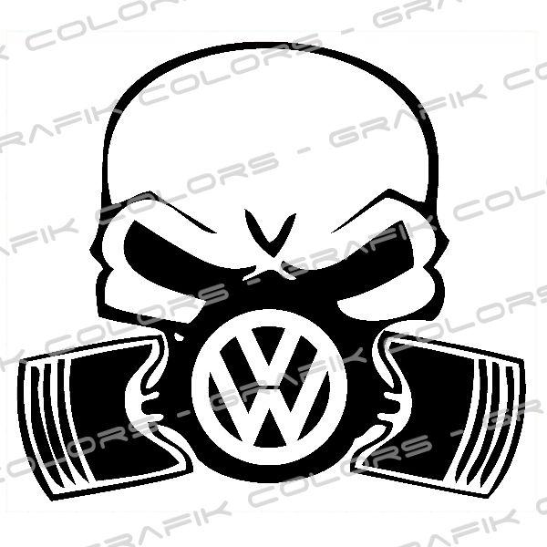 Vw Skull Google Search Volkswagen Golf Mk1 Vw Tattoo