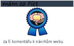 mám co říct-15 bodů-za 5 komentářu k návrhům webu.
