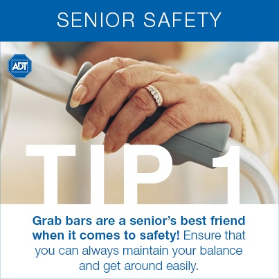 Senior Safety Tip #1: Grab bars are a senior's best friend when it comes to safety! Ensure that you can always maintain your balance and get around easily.