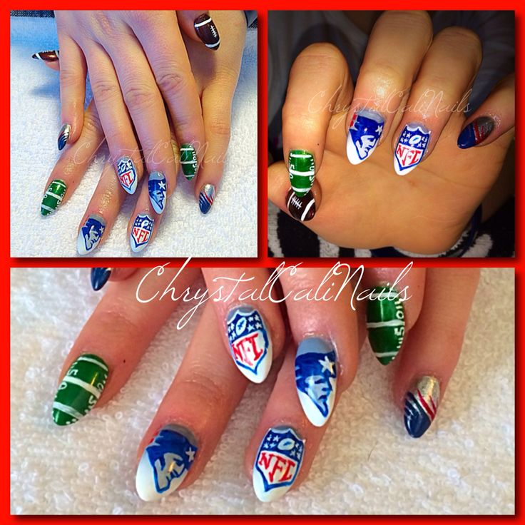22 best Sports Nails ⚾ images on Pinterest | Softball nails ...