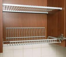 tiskikaappi : In Finland most people have these built in dish drainers in a cabinet above the kitchen sink.