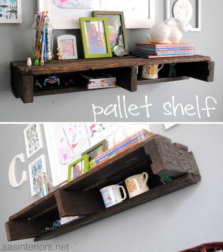 Pallet shelf...to hang under the tv for cable box and blu ray player