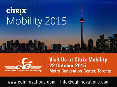 Visit us at : Citrix Mobility, 22 October 2015, Metro Convention Center, Toronto, ON