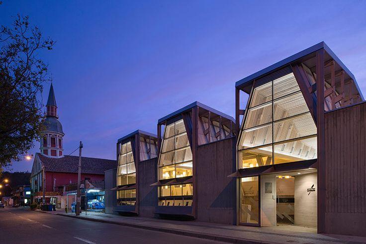 sebastian irarrazaval completes the new public library of constitucion