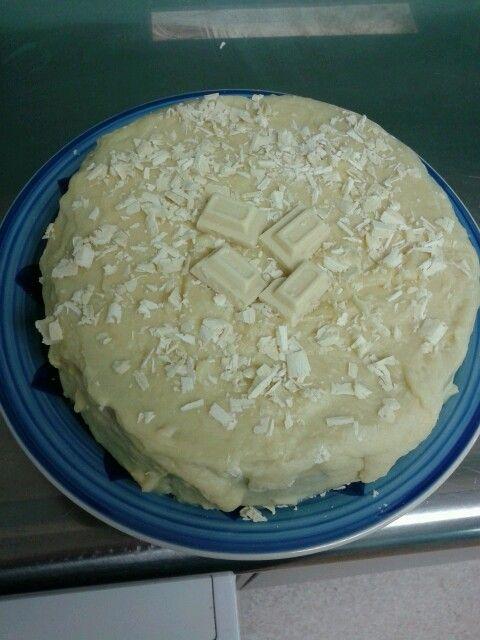 L&P white chocolate mud cake and ganache