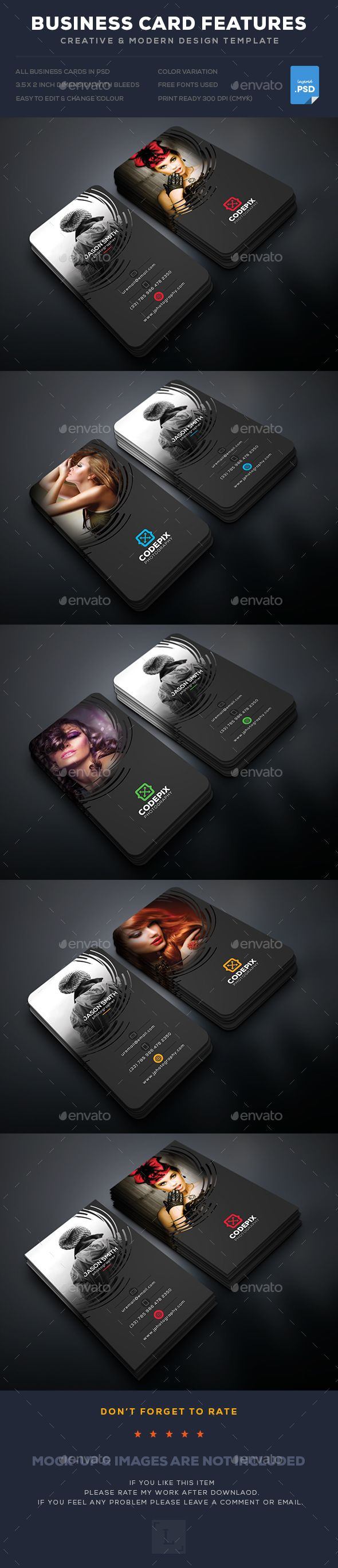Photography Business Card - #Business Cards Print Templates Download Here:        https://graphicriver.net/item/photography-business-card/17843820?ref=suz_562geid
