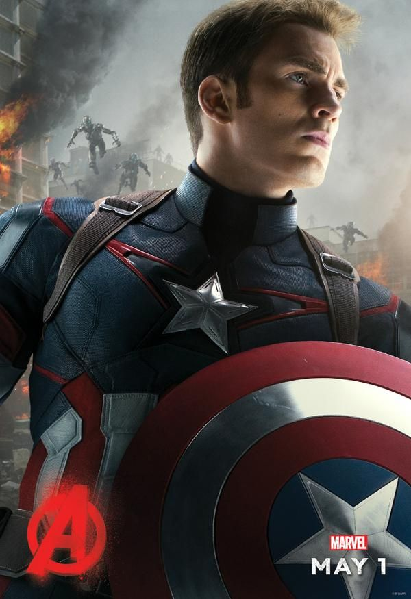 Chris Evans Ready For Action As 'Captain America' In New AVENGERS: AGE OF ULTRON Poster