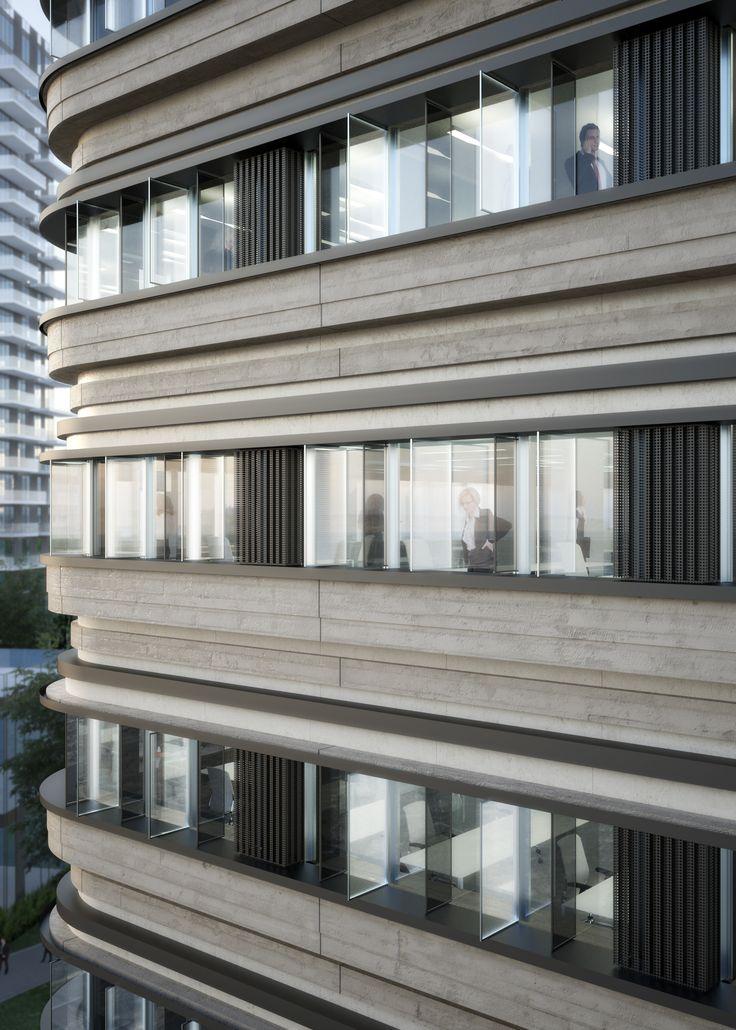 Facade Rendering by @parkassociati #ParkAssociati #HinesItalia #Milano #LeedPlatinum #PortaNuova #PNSC #SmartCommunity #MarcoZanuso #PietroCrescini #Refurbishment #Architecture #Design #InteriorDesign #OfficeDesign #Gioiaotto #ContemporaryArchitecture #Grid #Glass #Installations #Fins #ColouredGlass #Steel #Timber #2012 #2014 #Facade #Office #Hotel #EntranceHall #RoofGarden #Giardino #Facciata #View #Terrace #Finestre #Ufficio #Terrazza