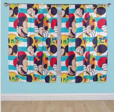 Mickey Mouse Gordijnen Set Kort - Kant en Klaar