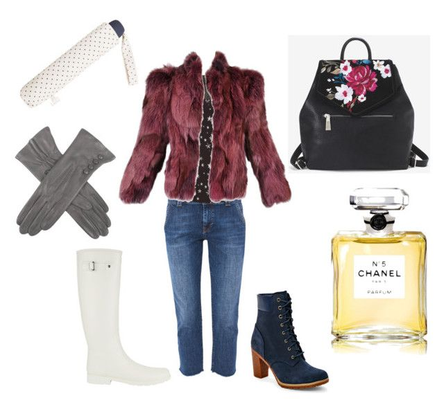 autumn by loulou-luna on Polyvore featuring moda, TIBI, Hunter, Timberland, White House Black Market, Dents, MANGO and Chanel