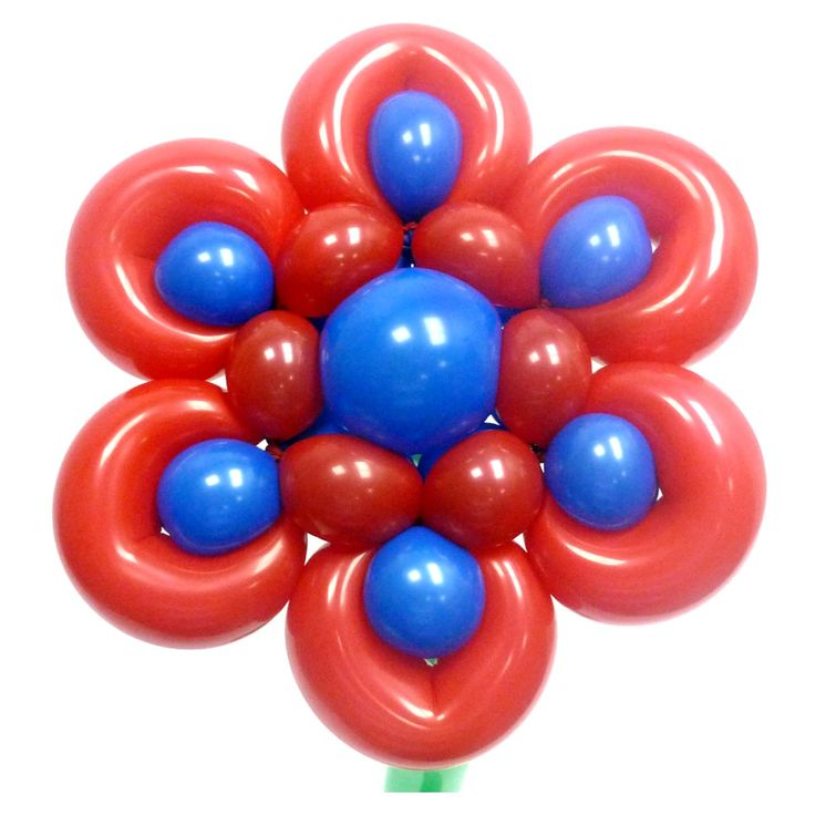 Милый цветок из воздушных шаров. Видео: https://youtu.be/0hvzsobLYVE Цветы из воздушных шаров, flower from balloons