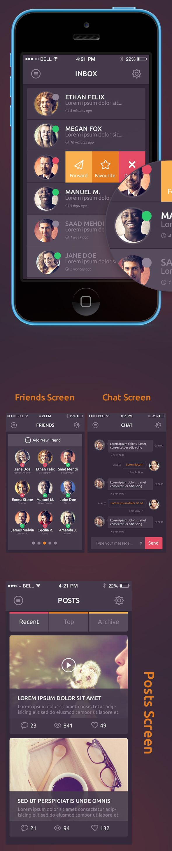 DO! - A surprisingly beautiful #ios #Mobile #UI Kit, to get your hasten the design process.