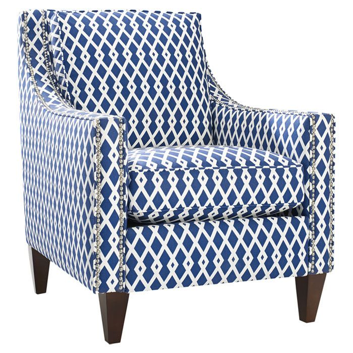 Pryce Arm Chair - gorgeous blue and white pattern: