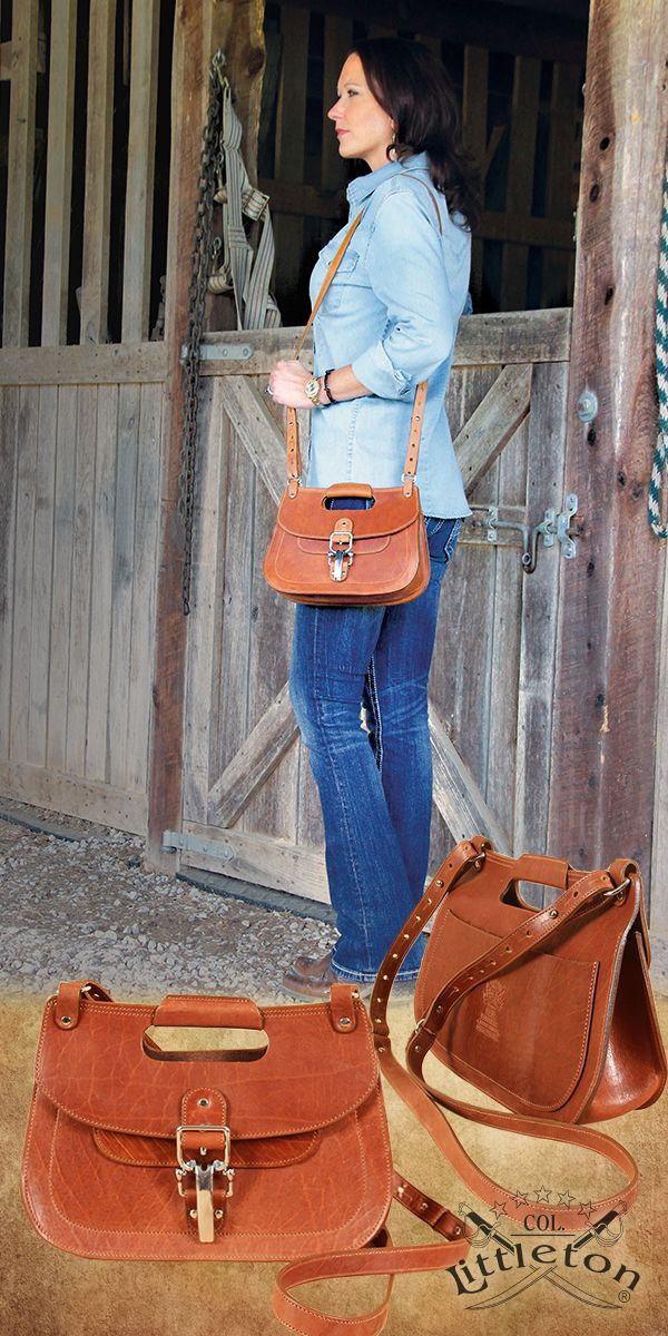 "Col. Littleton Leather No. 17 Hunt Bag. Leonardo da Vinci said, ""Simplicity is the ultimate sophistication."" We couldn't agree more. Street savvy but with a vintage, country estate feel. Crossbody, adjustable strap design with a convenient hand grip. Colonel Littleton designed the bag in our more rugged American Buffalo and appointed it with our stainless steel cinch buckle to complete the ""horse country"" look. Made in the USA."