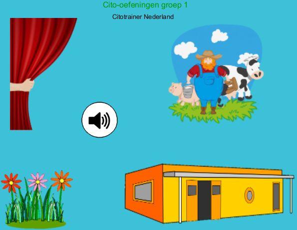 Citotrainer Nederland  veel luister oefeningen, classificeren, waarnemen
