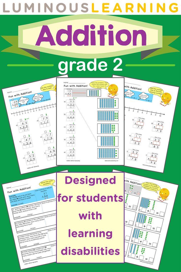 grade 2 addition e workbook making math visual grade 2 student and math. Black Bedroom Furniture Sets. Home Design Ideas