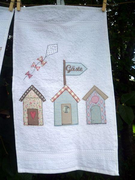 """Handtücher - Gästehandtuch """"Standhäuser"""" - ein Designerstück von julis-fairy-tale bei DaWanda"""