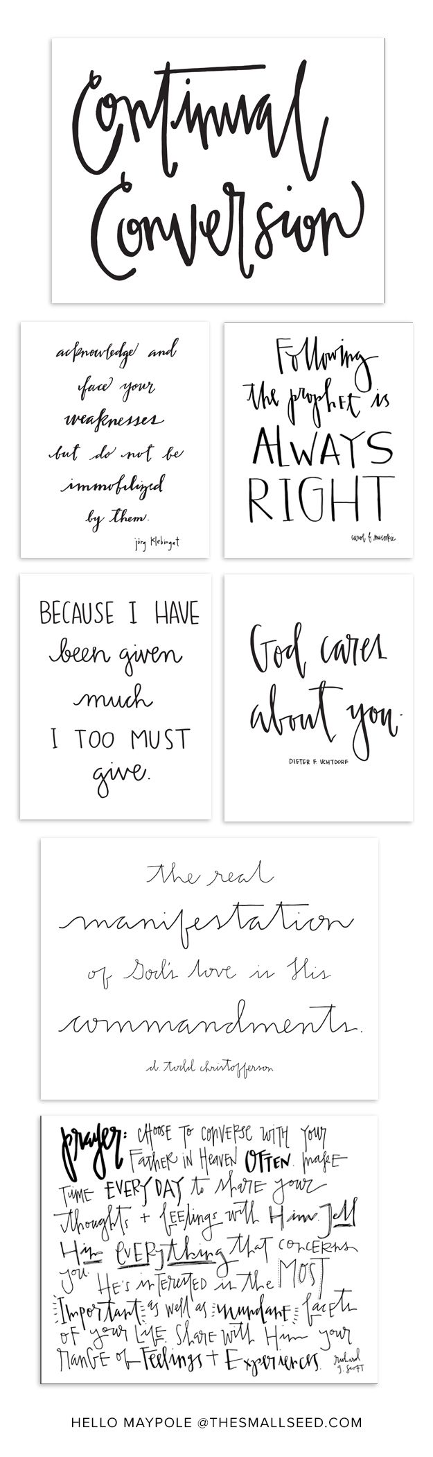 The Small Seed   General Conference Prints