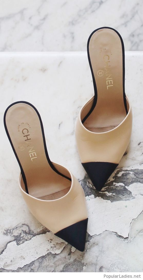 d7c60ee75 Amazing Chanel shoes on nude and black  Steppers