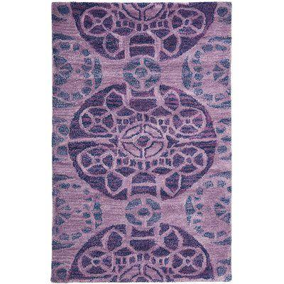 """Bungalow Rose Kouerga Purple Area Rug Rug Size: 8'9"""" x 12'"""