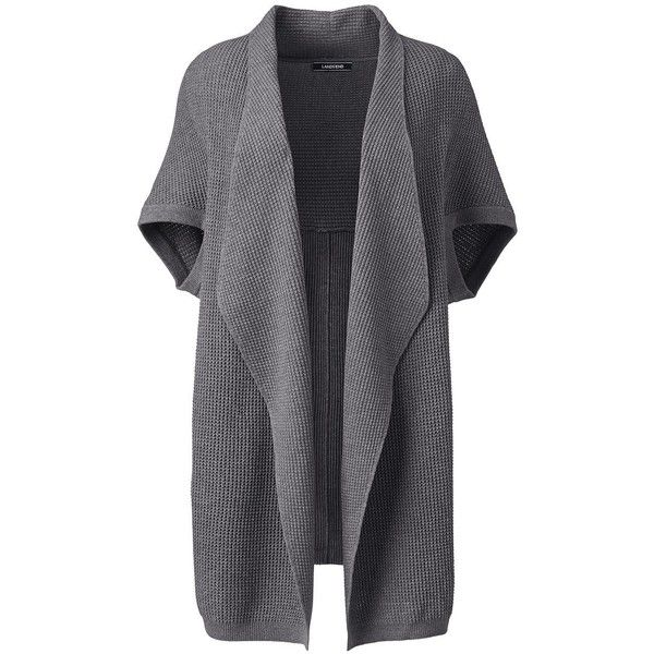 A super soft open front cardigan can make the dreariest winter day more bearable. A drop shoulder, and a curved hemline give it a modern slouchy look. Elbow sl…