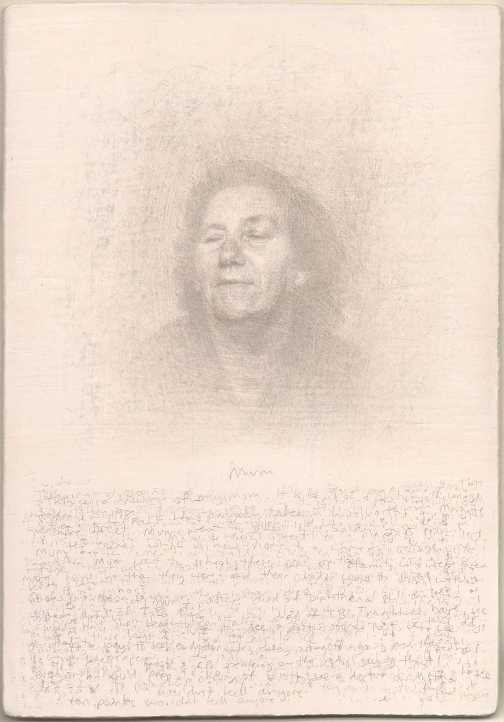Roy Eastland silverpoint drawing