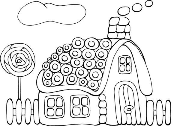 tasty cookie gingerbread house coloring page kids pinterest gingerbread