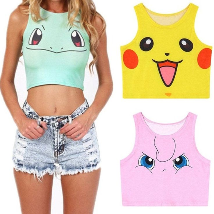 Sexy Pokemon Women Crop Top