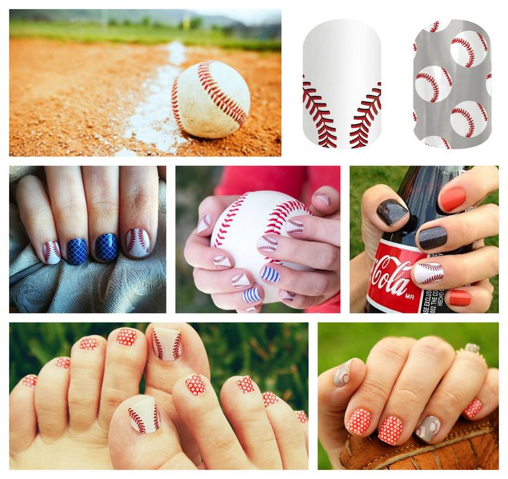 Adorable baseball mani/pedis with Jamberry nail wraps! Check out our other sports and hobbies designs as well!