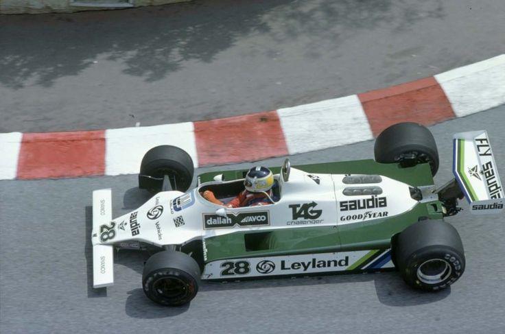 Williams FW07B Ford Cosworth DFV 3,0L V8  O argentino Carlos Reutemann e o Williams FW07B Ford Cosworth no Grande Prêmio de Mônaco de 1980 (Foto LAT PHOTOGRAPHIC/WILLIAMS F1)