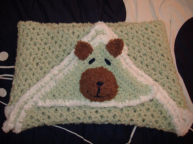 1000+ images about Baby hooded blanket crochet on Pinterest