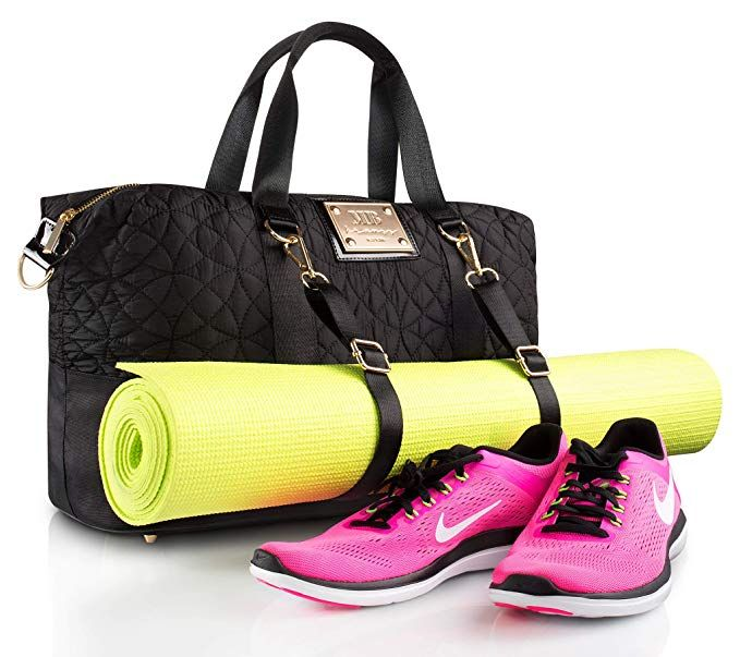 Designer Gym Tote Bag For Women By Mb Krauss Workout Purse With Yoga Mat Holder Straps Roomy Totebag For Fitness Essent Gym Tote Bags Gym Tote Trendy Purses