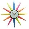 colourful sun shape wall clock