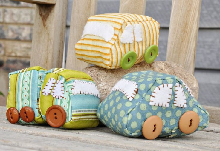 Such cute stuffed cars. This would be great for church for the little boys.