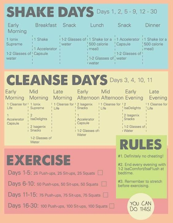 Superfood Nutritional Cleansing System - Isagenix 9 day or 30 day cleanse schedules