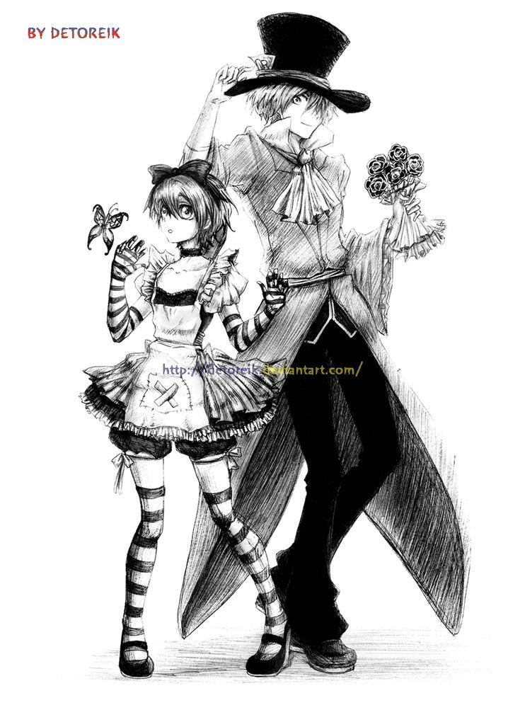 Alice and Mad Hatter by *Detoreik on deviantART