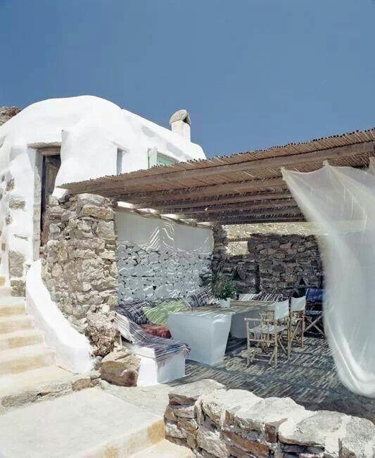 Beautiful outdoor in Mykonos. Greece, you are incredibly beautiful!!