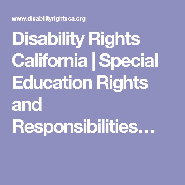 Disability Rights California | Special Education Rights and Responsibilities…