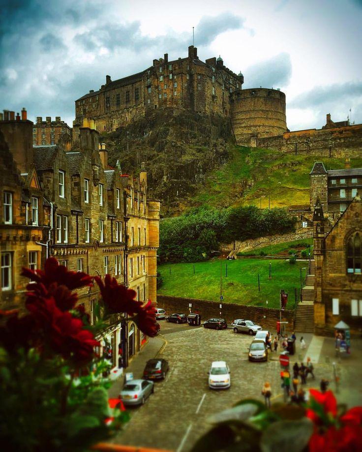 @live_life_love_travel on Instagram: The imposing Edinburgh Castle from the base of Castle Rock.