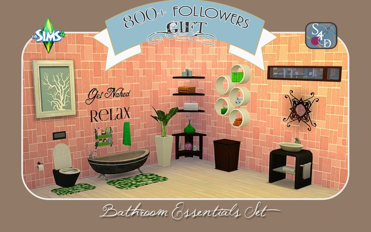 26 best images about sims 4 bathrooms on pinterest for Bathroom decor essentials